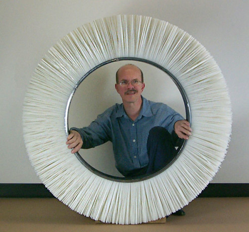 Tom Klatt inside a large brush