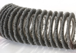a coil brush expanded