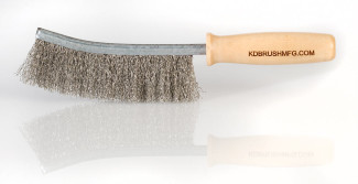 Large Stainless Steel wire brush with hardwood handle